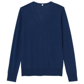 ムジルシリョウヒン(MUJI (無印良品))の試着のみ✴︎洗えるVネックセーター(ニット/セーター)