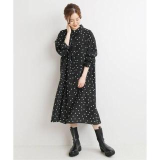 IENA - イエナ ドットシャツミニワンピース 38 新品