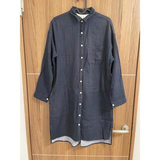 ムジルシリョウヒン(MUJI (無印良品))の無印良品 コットン シャツ ワンピース S(ひざ丈ワンピース)