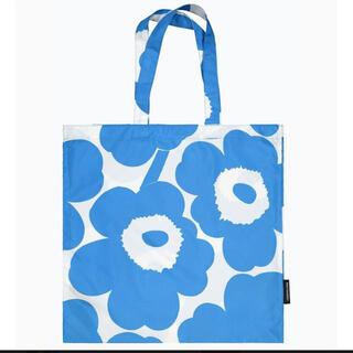 マリメッコ(marimekko)の新品marimekkoマリメッコ トートバッグ エコバッグブルー×ホワイト(トートバッグ)