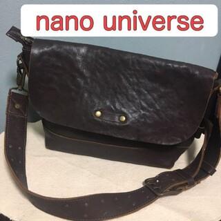 ナノユニバース(nano・universe)の【最終値下げ】ナノユニバース レザーショルダーバッグ(ショルダーバッグ)