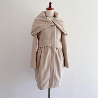 ダブルスタンダードクロージング(DOUBLE STANDARD CLOTHING)のSov. ダブスタ アンゴラ100ケープカラーコート ベージュ(ロングコート)
