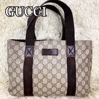 Gucci - GUCCI ハンドバッグ gg柄 シマ pvc ロゴプレート ggプラス レザー