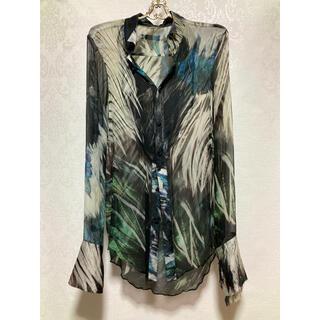 ルグランブルー(LGB)のifsixwasnine ワイルドコンドル総柄 タキシードシャツ メンズ1(シャツ)
