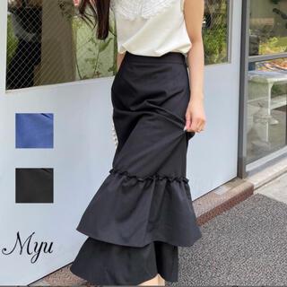 ZARA - <試着のみ>Myu 裾フリルタイトスカート ブラック