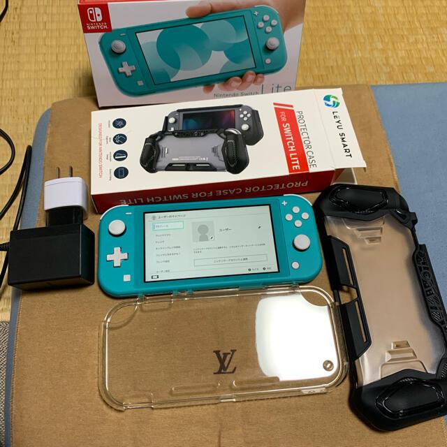 Nintendo Switch(ニンテンドースイッチ)の【最終値引】超美品!! Nintendo Switch light ターコイズ  エンタメ/ホビーのゲームソフト/ゲーム機本体(携帯用ゲーム機本体)の商品写真