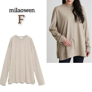 Mila Owen - 美品 ミラオーウェン サイドスリットクルーネックTシャツ トップス 長袖