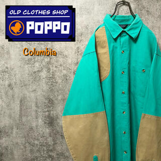 Columbia - コロンビア☆チノ切替ビッグハンティングシャツ 80s