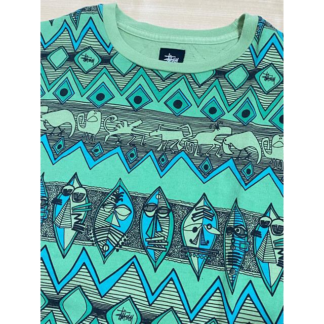 STUSSY(ステューシー)のOLD STUSSY ZULU Tシャツ オールド ステューシー 総柄 メンズのトップス(Tシャツ/カットソー(半袖/袖なし))の商品写真