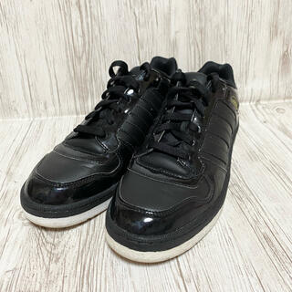 adidas - adidas  G28799 スリーストライプ エナメルスニーカー 26.0 黒