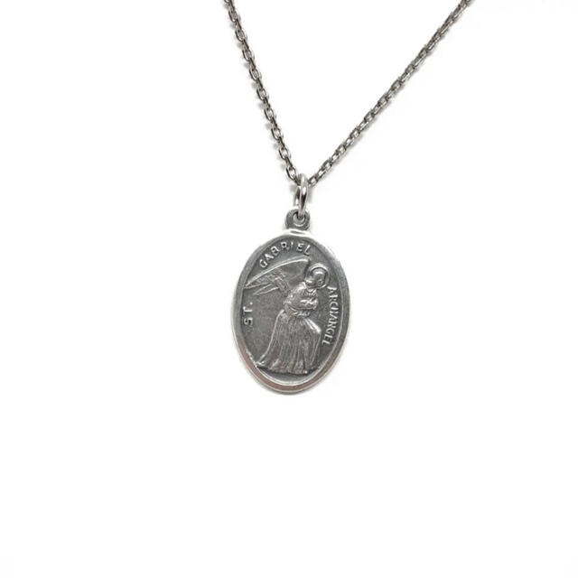 大天使ガブリエル 四大天使 エンジェル メダイ メキシコ 教会 カトリック 聖品 メンズのアクセサリー(ネックレス)の商品写真