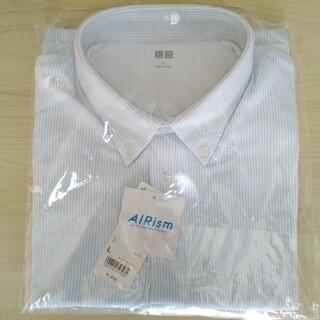 UNIQLO - ユニクロ エアリズム ストライプポロシャツ 半袖 Lサイズ