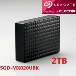 ELECOM - 送料無料★美品●2TB●SGD-MX020UBK★USB外付けHDD PC/TV