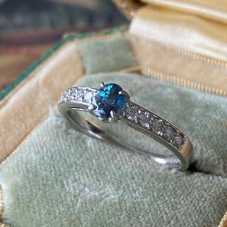 天然アレキサンドライト 天然ダイヤモンド プラチナリング