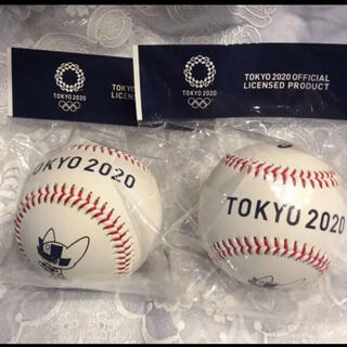 アシックス(asics)のオリンピックグッズ記念野球ボール2個(記念品/関連グッズ)