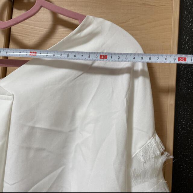ワンピース トップス 袖 フリル レース 白 セット マタニティ 大きい 秋 冬 レディースのトップス(シャツ/ブラウス(長袖/七分))の商品写真