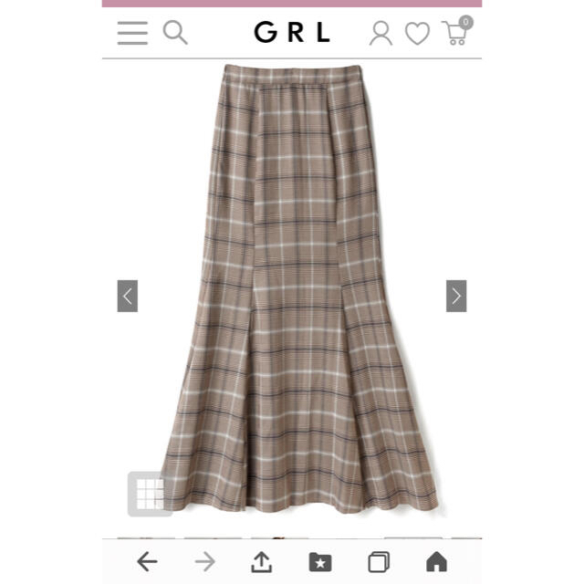 GRL(グレイル)のグレイル チェック柄 マーメイドスカート レディースのスカート(ロングスカート)の商品写真