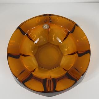 昭和レトロ HOYA アンバーガラス 灰皿