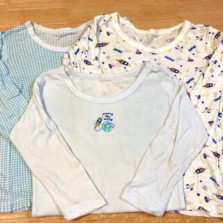 イオン(AEON)の長袖 インナーシャツ3枚セット 100cm 男の子(下着)