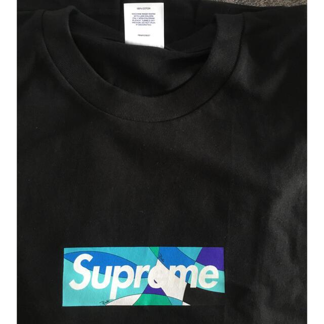 Supreme(シュプリーム)のSupreme Emilio Pucci Box Logo tee 黒 M メンズのトップス(Tシャツ/カットソー(半袖/袖なし))の商品写真