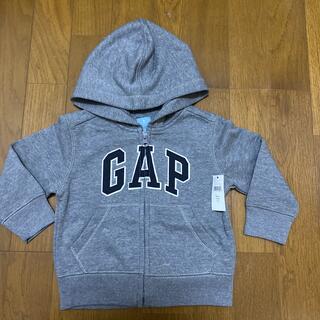 babyGAP - 新品未使用☆GAPグレーのジップパーカー90