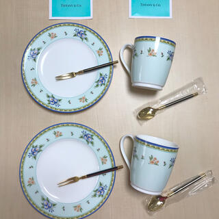 ティファニー(Tiffany & Co.)のティファニー カップ&デザートプレートペアセット+おまけ付(グラス/カップ)