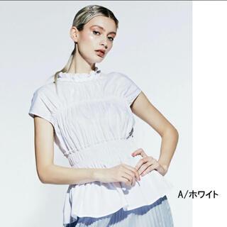 ダブルスタンダードクロージング(DOUBLE STANDARD CLOTHING)のダブルスタンダードクロージング コットンポリタイプライターブラウス 美品(シャツ/ブラウス(半袖/袖なし))