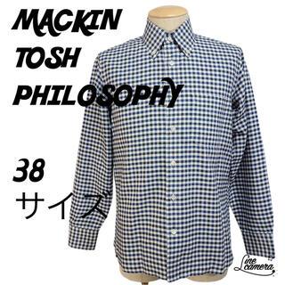 マッキントッシュフィロソフィー(MACKINTOSH PHILOSOPHY)のマッキントッシュ 長袖 シャツ チェック 38 サイズ(シャツ)