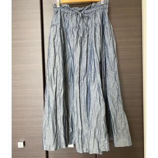 ネストローブ(nest Robe)のネストローブ コットンリネン和紙スカート 美品!(ロングスカート)