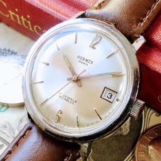 エルメス(Hermes)の#1629【シックでお洒落】メンズ 腕時計 エルメス 動作良好 ヴィンテージ (腕時計(アナログ))