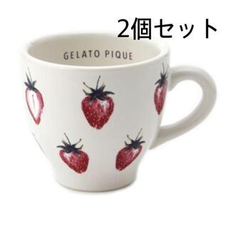 ジェラートピケ(gelato pique)のジェラートピケ♡ストロベリーマグカップ(グラス/カップ)