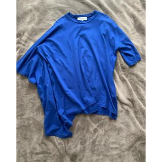 エンフォルド(ENFOLD)のENFOLD スビン天竺 アシンメTシャツ(Tシャツ(半袖/袖なし))