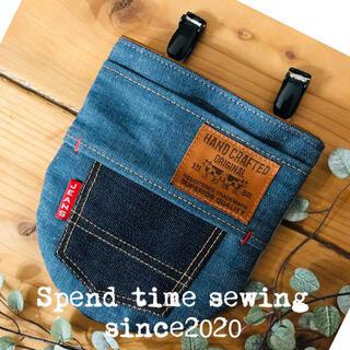 ティッシュケース付き BIGフタなし移動ポケット(クリップ付き)(外出用品)