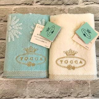 TOCCA - TOCCA ハンドタオル アイボリーグリーン 2枚セット