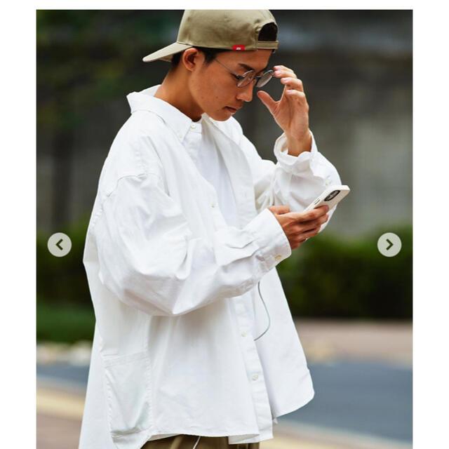 SEA(シー)のBALLOON OX FORD SHIRT / WHITE (BALL-01) メンズのトップス(シャツ)の商品写真