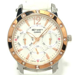 カシオ(CASIO)のカシオ 腕時計美品  SHEEN(シーン) 白(腕時計)