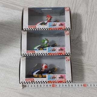 ニンテンドウ(任天堂)のマリオカート プルスピード フィギュア (マリオ、ヨッシー、キノピオ)3体セット(キャラクターグッズ)