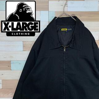 XLARGE - XLARGE エクストララージ ワークブルゾン ワンポイント 黒
