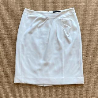クードシャンス(COUP DE CHANCE)のクードシャンス オフホワイト ひざ丈スカート(ひざ丈スカート)