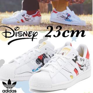 adidas - 希少★adidas × Disney コラボ スーパースター 白×赤 23cm