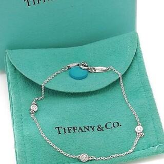 Tiffany & Co. - 未使用 希少 ティファニー 3P ダイヤ バイザヤード ブレスレット WB23