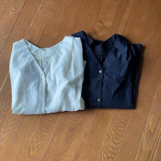 テチチ(Techichi)のシャツブラウス アイボリー&ネイビー 2枚セット(シャツ/ブラウス(長袖/七分))
