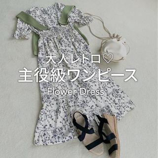 フィフス(fifth)のfifth 単色花柄カシュクールワンピース ホワイト(ロングワンピース/マキシワンピース)