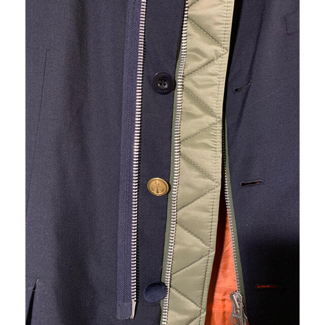 【美品】sacai 20ss ma-1 再構築ドッキングジャケット メンズのジャケット/アウター(ミリタリージャケット)の商品写真