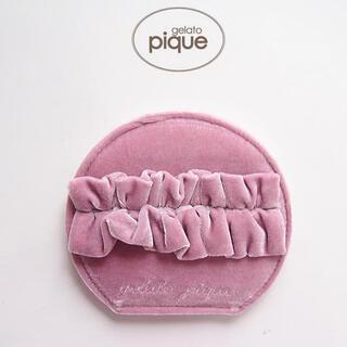 gelato pique - 新品・タグ付!ジェラートピケ❁ベロア生地のリボン付きコンパクトミラー♡⃛