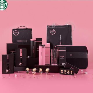 スターバックスコーヒー(Starbucks Coffee)のスターバックス BLACKPINK コラボトラベルポーチセット(アイドルグッズ)
