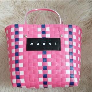 マルニ(Marni)の新品 ピンク  かごバッグ ピンクバッグ かご 人気 マルニ(かごバッグ/ストローバッグ)