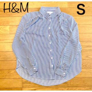 H&M - H&M ストライプシャツ レディース  長袖シャツ