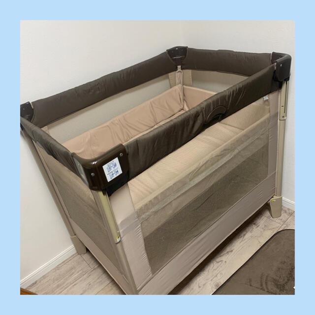 Aprica(アップリカ)のアップリカ ココネル ベビーベット ココアブラウン キッズ/ベビー/マタニティの寝具/家具(ベビーベッド)の商品写真