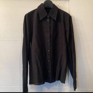 プラダ(PRADA)のPRADA ドレスシャツ 黒 ブラック black モード(シャツ)